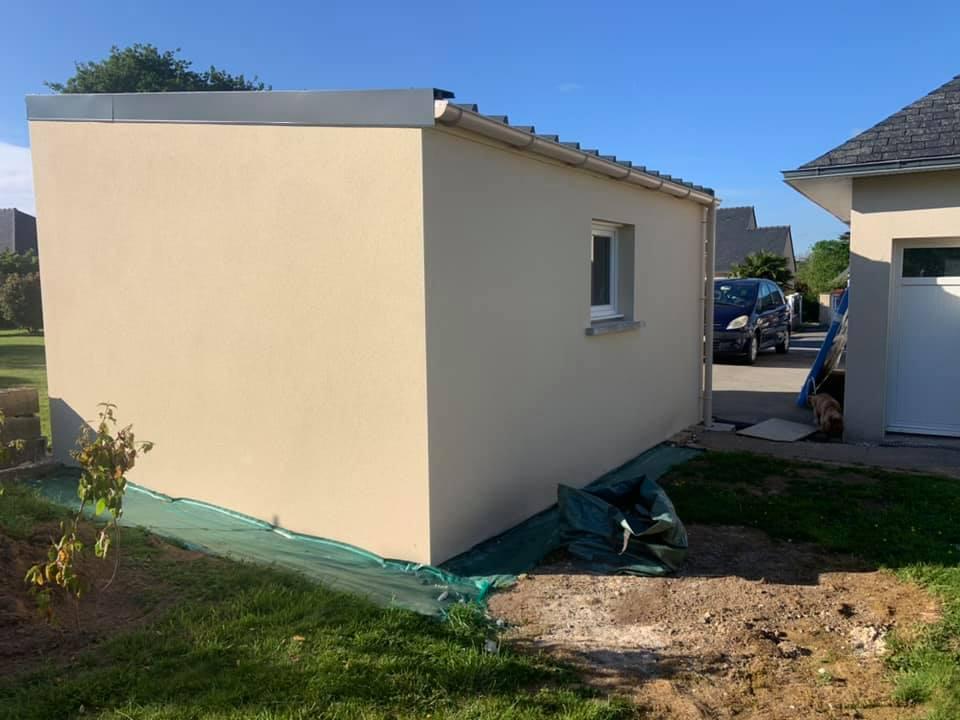 216908241 286789209912513 4111734302732221738 n - Constrution d'un garage , charpente, toiture panne...
