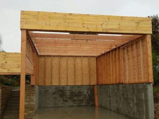 carport bois douglas pour camping car