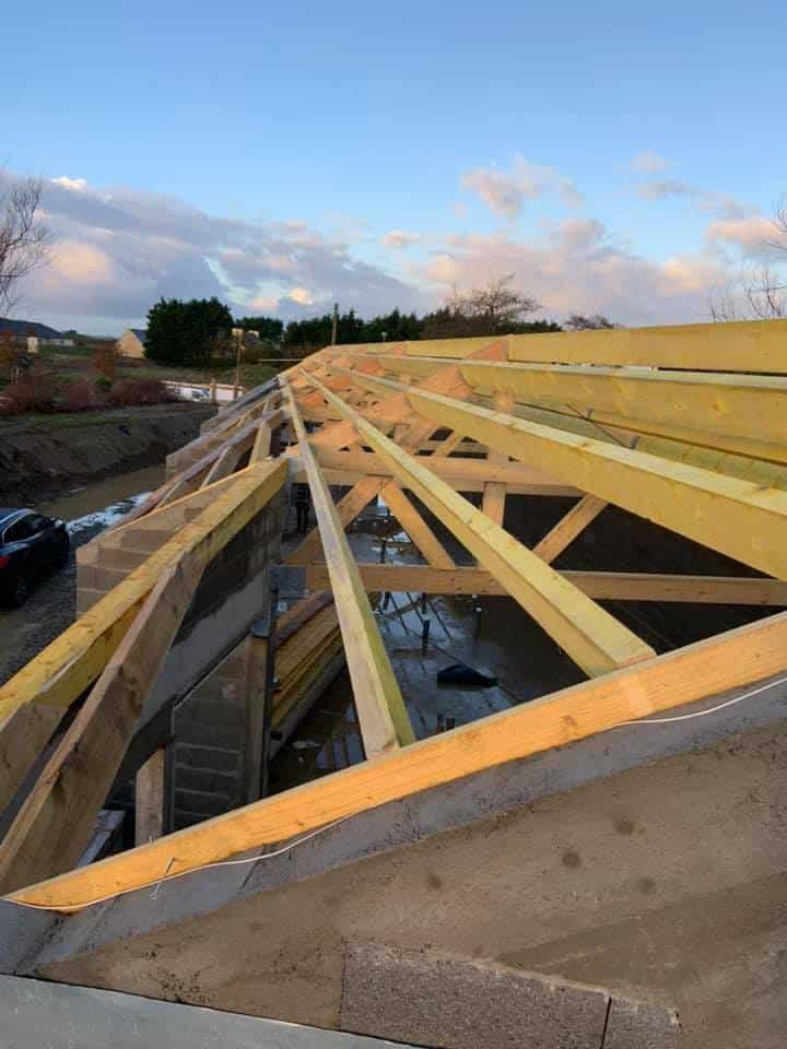 chantier ploudalmezeau 6 - Charpente - Ossature Bois