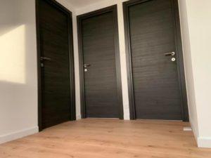 menuiserie intérieure portes chêne anthracite landerneau 1