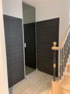 menuiserie intérieure portes chêne anthracite landerneau 6