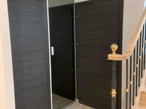 menuiserie intérieure portes chêne anthracite landerneau 2