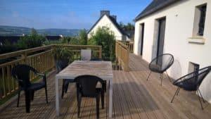 terrasse bois pin classe 4 en hauteur landerneau 1