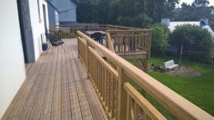 terrasse bois pin classe 4 en hauteur landerneau 2
