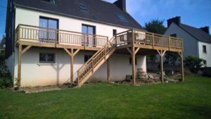 terrasse bois pin classe 4 en hauteur landerneau 3