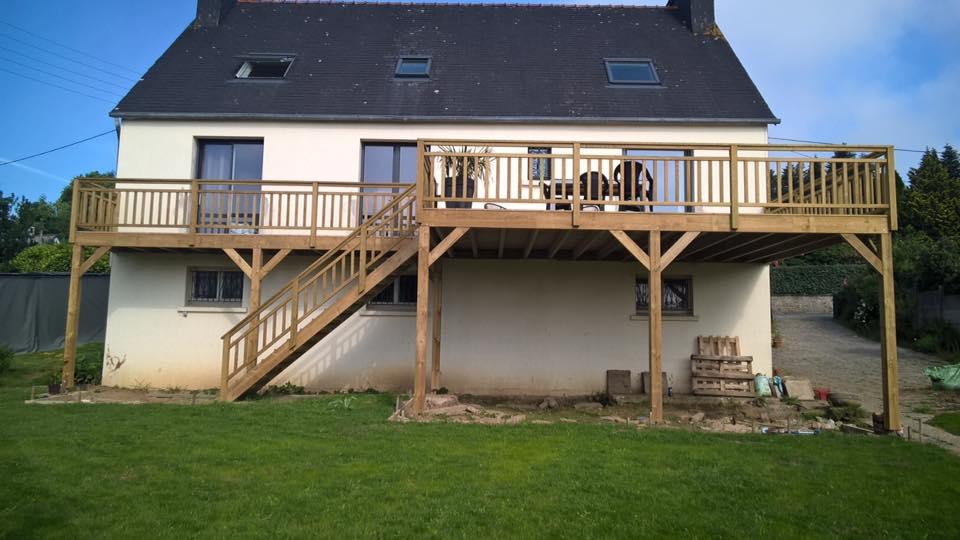 terrasse bois pin classe 4 en hauteur landerneau 4