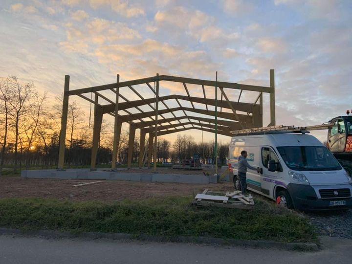 Le nouveau bâtiment de l'entreprise